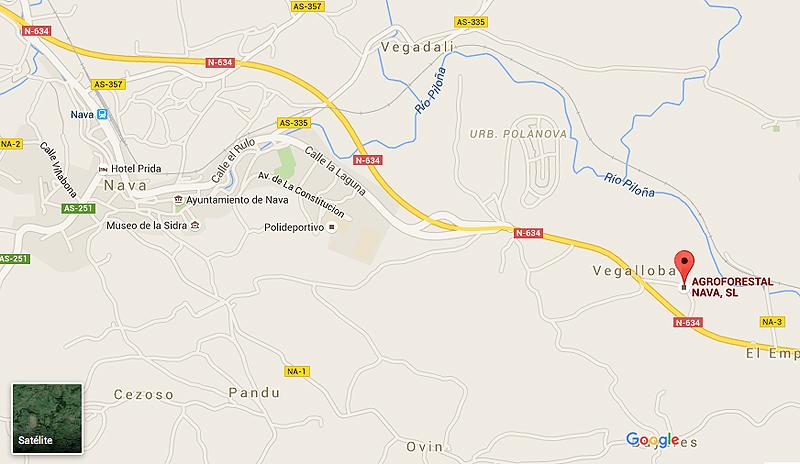 Mapa Google Agroforestal